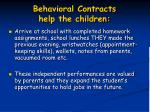 behavioral contracts help the children