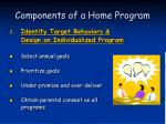 components of a home program47