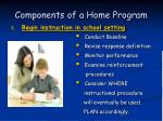 components of a home program48