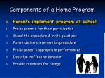 components of a home program53