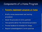 components of a home program55
