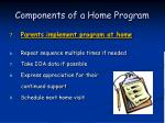 components of a home program56