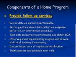 components of a home program57