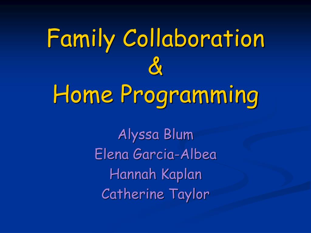 family collaboration home programming l.