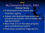 how mcclannahan krantz 1982 external review