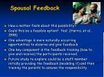 spousal feedback