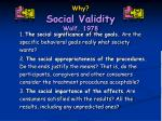 why social validity wolf 1978