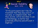 why social validity wolf 197811
