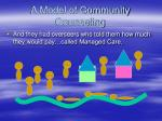 a model of community counseling55