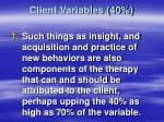 client variables 4017
