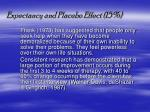 expectancy and placebo effect 15
