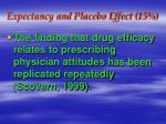 expectancy and placebo effect 1530