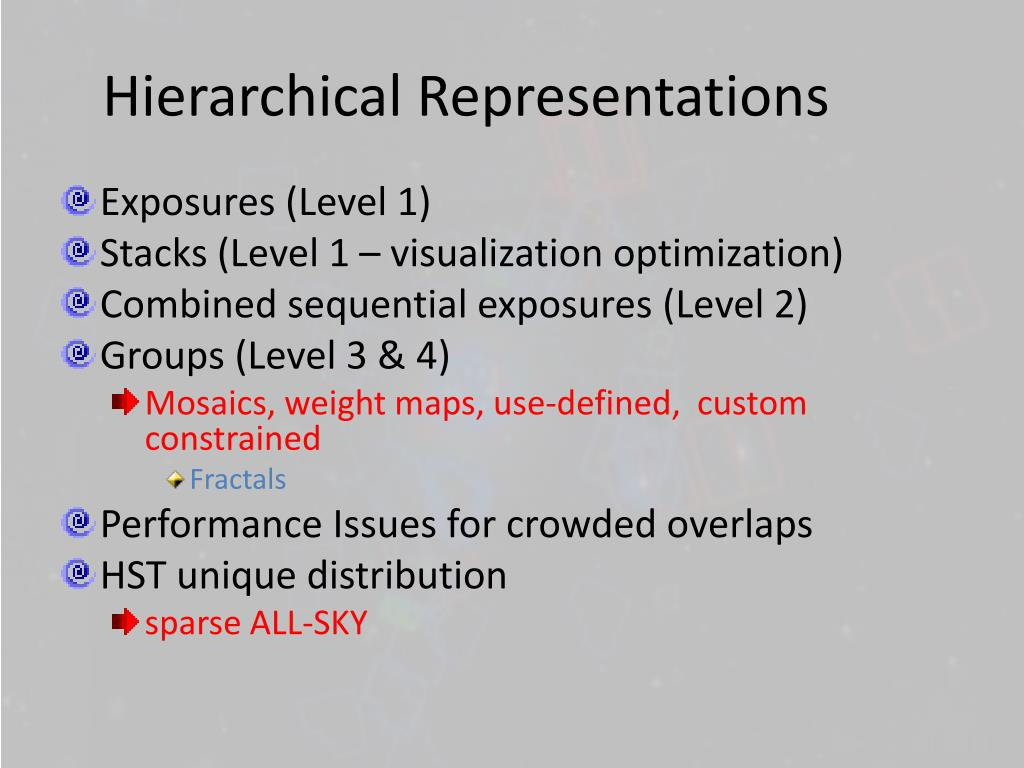 Hierarchical Representations