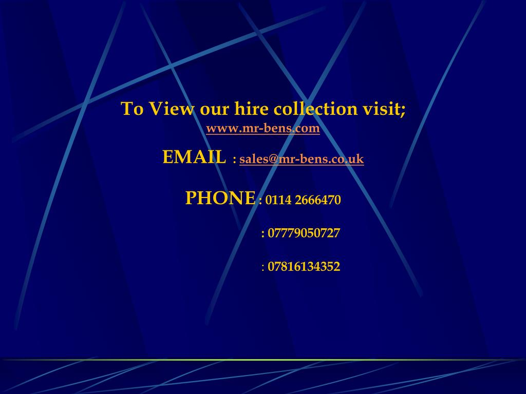 To View our hire collection visit;