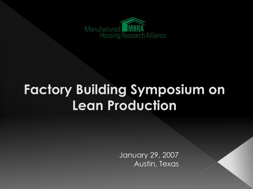 factory building symposium on lean production l.