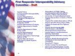 first responder interoperability advisory committee draft