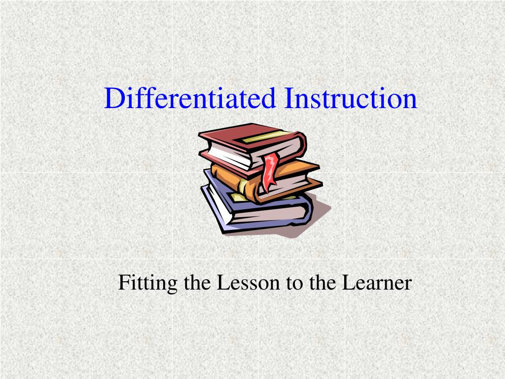 Ppt Differentiated Instruction Powerpoint Presentation Id187806
