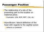 passenger position