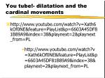 you tube dilatation and the cardinal movements