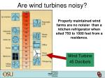 are wind turbines noisy