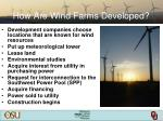 how are wind farms developed