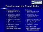 penalties and the model rules11