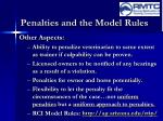 penalties and the model rules12