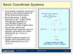 basic coordinate systems