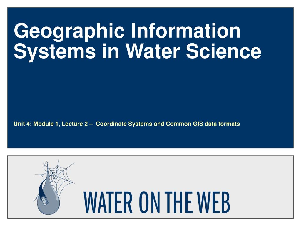 geographic information systems in water science l.