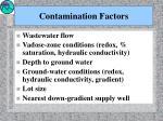 contamination factors