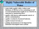 highly vulnerable bodies of water