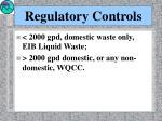 regulatory controls