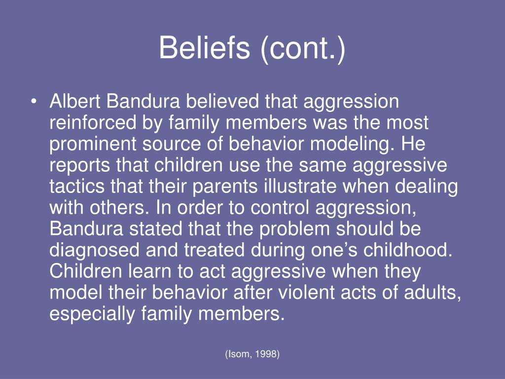 albert banduras behaviorism Since the publication of their seminal article entitled, transmission of aggression through imitation of aggressive models (bandura, ross, & ross, 1961), the work of albert bandura and his co-authors has had an immeasurable impact on the field of psychology, in general, and educational psychology.