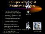 the special theory of relativity explained