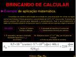 brincando de calcular