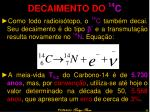 decaimento do 14 c