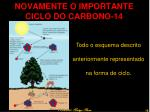 novamente o importante ciclo do carbono 14