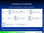 formula for attribution