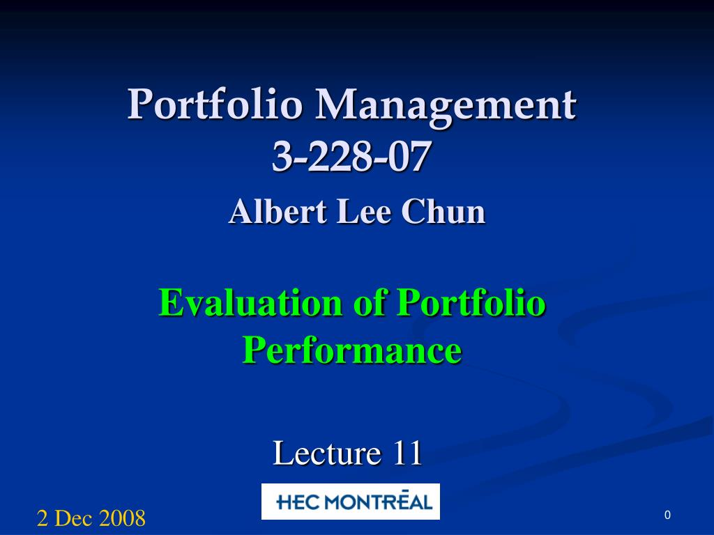 portfolio management 3 228 07 albert lee chun l.