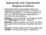 appropriate and inappropriate negative emotions