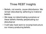 three rebt insights
