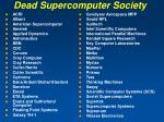 dead supercomputer society