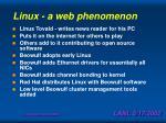 linux a web phenomenon