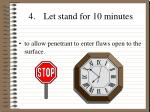 4 let stand for 10 minutes