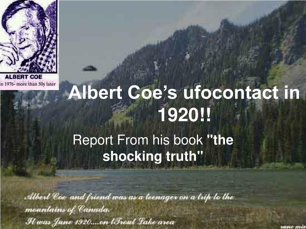 albert coe s ufocontact in 1920 l.