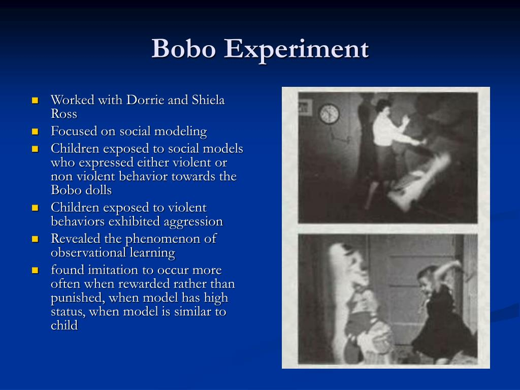 bobo experiment essays Bandura's experiment (called a bobo doll) express your owns thoughts and ideas on this essay by writing a grade and/or critique.