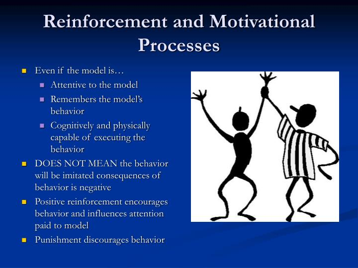motivation and reinforcement Motivation and reinforcement summary: motivation is the art of getting people to do things or to do things more efficiently or quickly knowing what the human behavior will do is of the upmost importance.