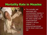 mortality rate in measles