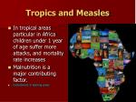 tropics and measles