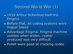 second world war 1